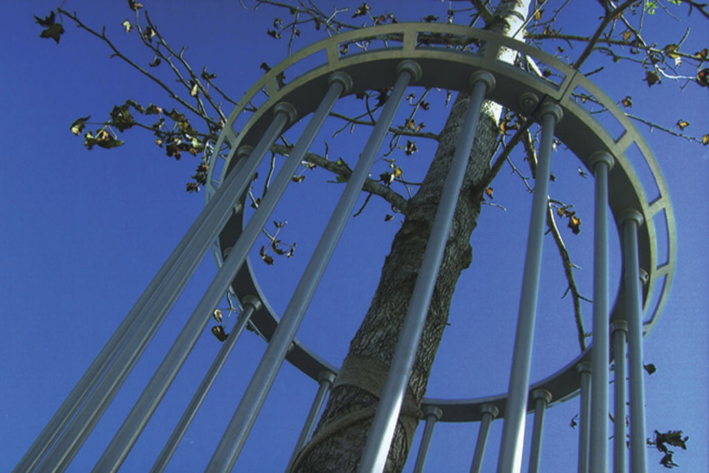 Tree Guards are available in a wide variety of shaps, sizes and materials